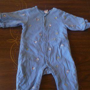 GAP Blue Footed Pajama Boy 3-6 months